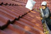Clean the gutters and downspouts